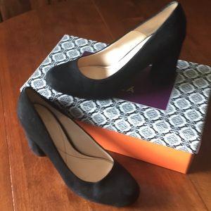 "Isola black suede heels ""Eleni """
